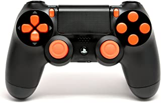 Black/Orange PS4 Playstation 4 Rapid Fire Controlador Modded para Black Ops 3, AW, Ghosts, Destiny, Battlefield: Quick Scope, Drop Shot, Auto Run, Sniped Breath, Mimic, More
