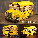 スクールバス (イエロー) アメリカン LED ナイトランプ ライト 間接照明 インテリア 雑貨 アメリカン雑貨 アメリカ バス グッズ