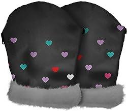 Tris&Ton Manoplas impermeables invierno silla de paseo, guantes prueba de viento forro polar para carrito carro cochecito (Tris y Ton) (Love)