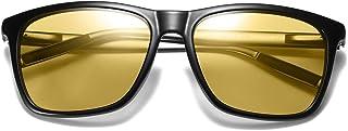 Photochromic Aviator Sunglasses for Men Polarized Day and Night Driving Glasses