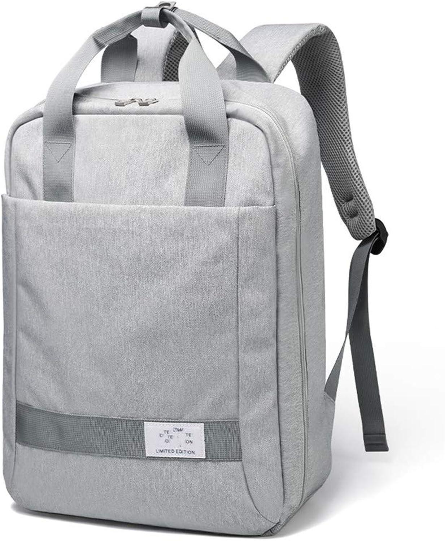 Rucksack Mnner und Frauen beilufige einfache Multi-Layer-Outdoor-Student Computer Tasche Business Casual groe Kapazitt Reise Rucksack Wasserdichte Tasche grau