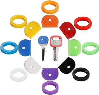 16PCS Key Caps Covers Tags, Key Cap Key Ring Combination Key Identifier Label ID Perfect..