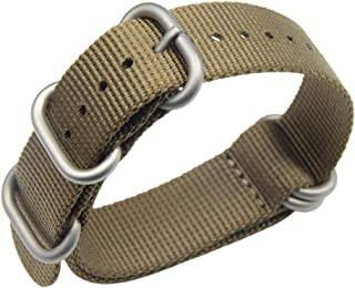 18-24mm verde NATO nylon balistico sostituzione cinturino intrecciato per gli uomini