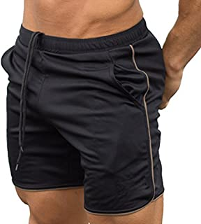 Men's Gym Workout Boxing Shorts Running Short Pants Fitted Training Bodybuilding Jogger Short