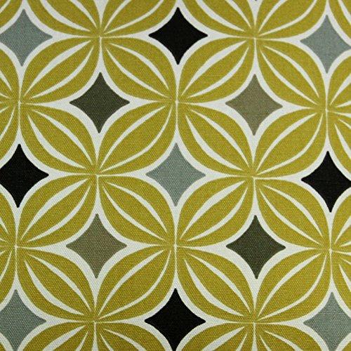 McAlister Textiles Laila Tessuto al Metro, da Cucito | Decorazioni per la Casa in Tessuto in 100% Cotone - Motivo Geometrico Scandinavo Giallo Ocra | Design - al Metro 100x140cm