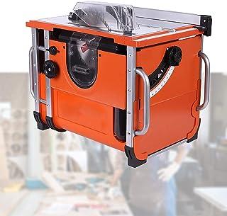 HTDHS Kompakt cirkelsåg, träbearbetning skjutbord såg 2 600 W, ren skärning, 0–45° avfasning, sågblad kan höjas sänkt, skä...
