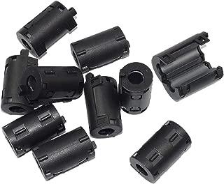 stardrift 10-Pack 9mm Diameter Snap on Ferrite Core Bead Choke Ring Cord RFI EMI Noise Suppressor Filter for HDMI VGA DVI Cable Power Line Industrial Cords Black