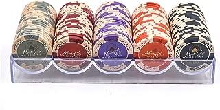 Shengshou ポーカーチップ ゲーム用 5種類 カジノチップ 100枚 セット ケース付き 14g 本格プロ仕様
