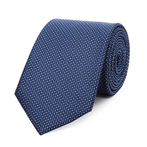 Bruce Field - Cravate en soie à micro puces grises
