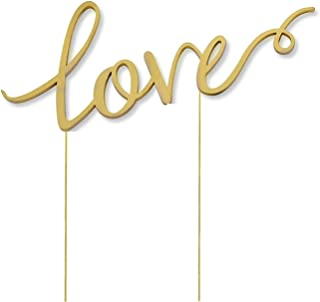 Love Wedding Cake Topper, Metal Alloy Anniversary Bridal Shower Engagement Parties Decoration Gift Ideas, Gold
