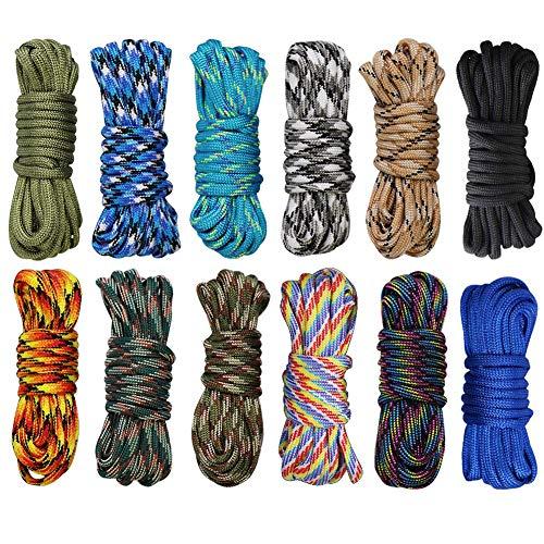 INTVN 10 Paracord cuerda 4 mm Color 7 Núcleo cuerdas Nylon Cuerda de nailon...
