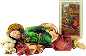Westman Works Sleeping St Joseph Statue and Holy Card with Prayer to Saint, 8 Inch