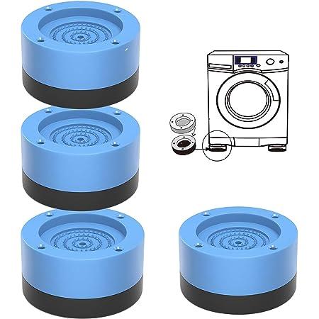 Pied Machine a Laver, 4PCS Tampons À Pied Machine À Laver, Patin Anti Vibration Machine à Laver Antidérapants et Réduisant, pour Machines à laver, Sèche-linge, Réfrigérateurs (Bleu, 3.5cm)