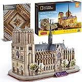 CubicFun 3D Puzzle for Adults Kids Notre Dame de Paris France Architecture Model...