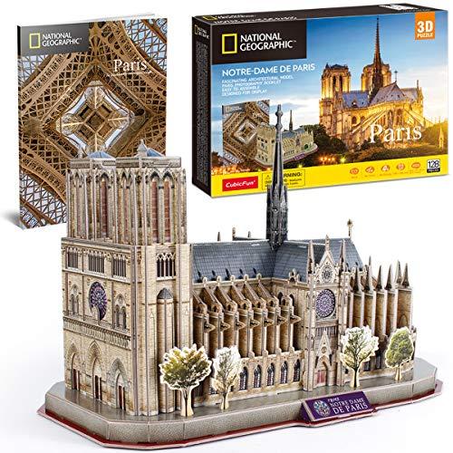 CubicFun 3D Puzzle for Adults Kids Notre Dame de Paris France Architecture Model Kits, Gifts for...