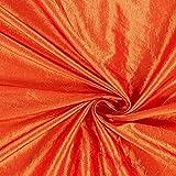 Taftstoff Crash – orange — Meterware ab 0,5m — zum