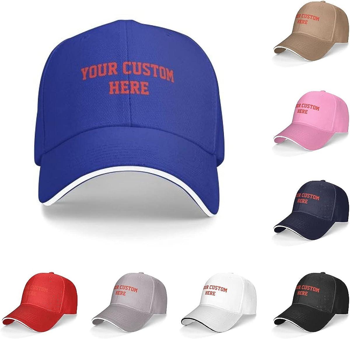 Custom Hats, Custom Baseball Hat, Design Your Own Hat,Soft Baseball Cap Custom Personalized Text Dad Hats for Men & Women