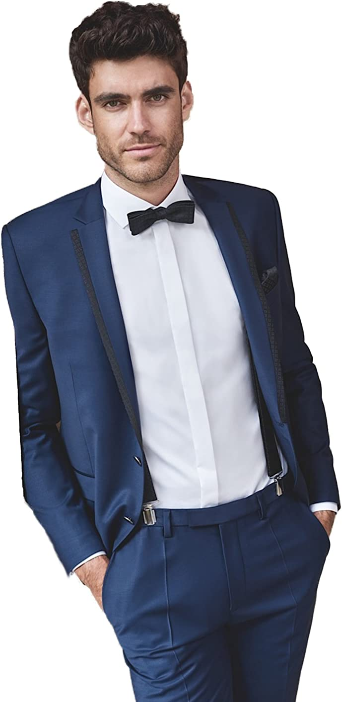 Kelaixiang Blue Formal Tuxedos Wedding 2 Suit Men for Pcs Sales of SALE Max 68% OFF items from new works