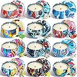 12 velas perfumadas regalo Set puro natural cera de soja aromaterapia velas mujeres día de la madre cumpleaños Navidad yoga