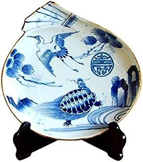 有田焼 長寿鶴亀紋 福袋皿(皿立/木箱付)【サイズ】径21.3cm