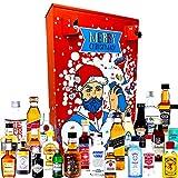 Schnaps Adventskalender 2020 mit 24 Premium Spirituosen Gin, Rum, Vodka, Whisky Adventskalender mit erstklassigen Marken in Original Miniatur-Flaschen für anspruchsvolle Genießer oder Cocktail Fans