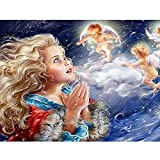 DIY Paint by Numbers Kit for Kids & Adults Angel Baby Canvas with Paintbrushes Color Acrylic DIY Drawing Premium Quality Paintwork 40x50cm