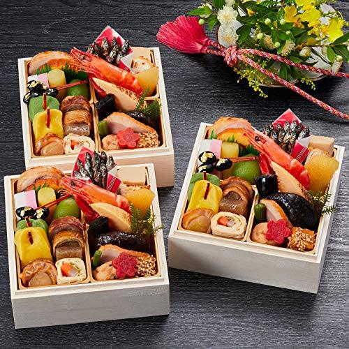 京都 しょうざん おせち料理 2021 吉春 個食 三段重 26品 盛り付け済み 冷凍おせち 3人前 一人前×三段 お届け日:12月30日