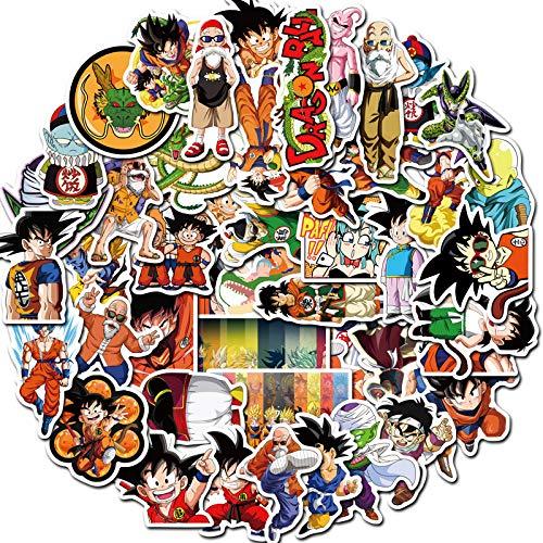 50 dibujos animados Dragon Ball Goku Graffiti pegatinas equipaje ordenador guitarra pegatinas decorativas impermeables