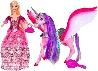 Bettina Princess Doll and Unicorn, Unicorn Gifts for Girls, Fashion Playset with Sparkle Unicorn