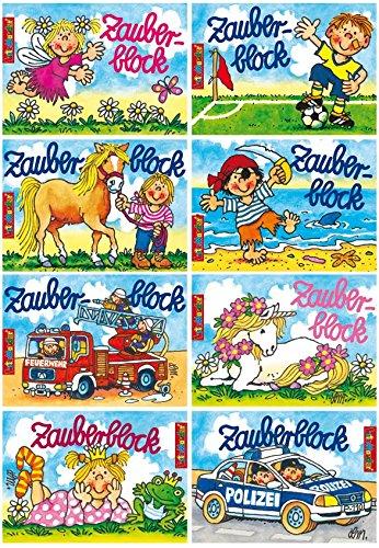 8 Zauberblöckchen im Set (A7 -10,5x7,5cm) - 8 Motive - Lutz Mauder