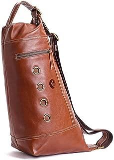 Rjj Vintage Handmade Cowhide Chest Top Layer Leather Shoulder Bag/Messenger Bag/Multi-Function Handbag Exquisite