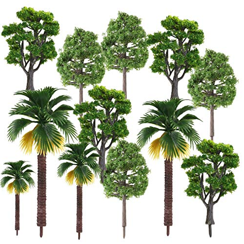 AnyBack Model Trees, Miniature Trees, Rainforest Trees, Diorama Models Trees, Architecture Trees, Model Landscape Railroad Railways Train Scenery Scale Trees with No Stands 12 Set