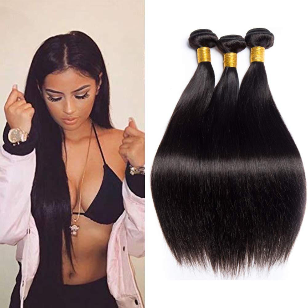 Unprocessed A surprise price is realized Virgin Remy Overseas parallel import regular item Human Hair Weave Brazilian Hum 3 Bundles