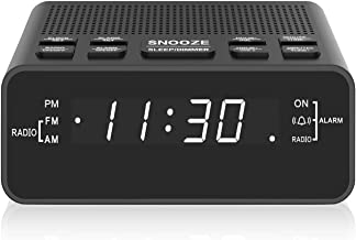 Clock Radio, Digital AM FM Alarm Clock Radio for Bedroom