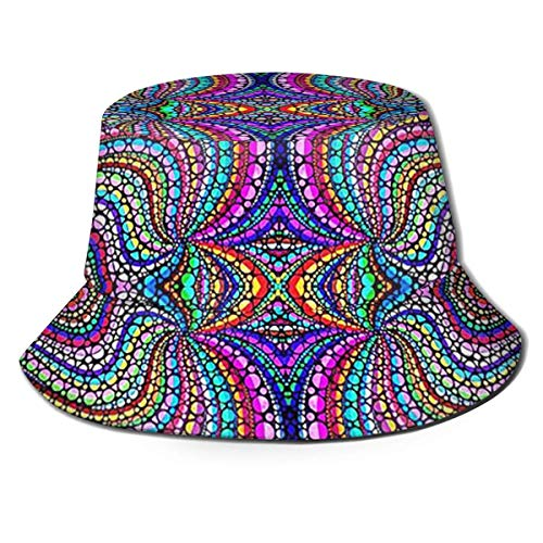 BeiBao-shop Gorras Psy-chedelic Trippy Vaporwave Fisherman 's Hat Moda Casual Wild Sun Hat, Adult Bucket Hat, Summer Fishing Fisher, Sun Cap Hat