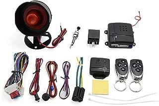 uxcell 1-Way Car Vehicle Burglar Alarm System Keyless Entry Security System w/2 Remote Control