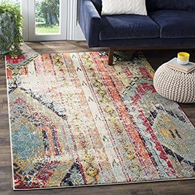 Safavieh Monaco Collection MNC222F Modern Bohemian Multicolored Distressed Area Rug (5'1  x 7'7 )