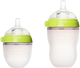 Comotomo - Natural-Feel Baby Bottles - 8oz Bottle + 5oz Bottle Pack - Green