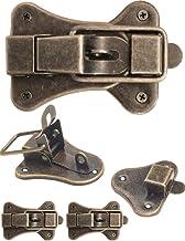 FUXXER® - 2x sluitingen voor kisten, kisten, boxen, koffers, metalen beslag voor hangslot, vintage messing design, set van...