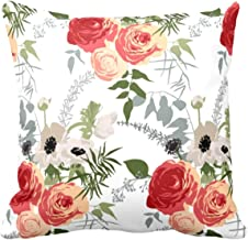 Yaya Cafe™ 20x20 inches Sightly Floral Flowers Printed Cushion Covers Home Sofa