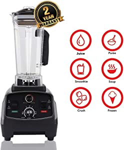 Professional Kitchen Smoothie Blender,Multifunctional High-Speed Digital Electric Fruit Vegetable Juicer Food Blender Processor Automatic Soymilk Machine Health Baby Food Supplement Mixer (US)