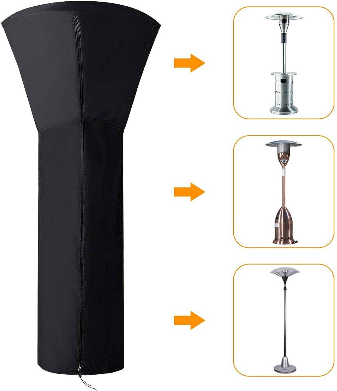 Color : Gray, Size : 85//48 * 226cm 33//19 * 89in VULID Transpirable Funda Protectora Calentador Cubierta,Cubierta Calentadores con Oxford Resistente para Patio Impermeable Resistente