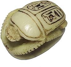 bonballoon Scarab Beetle Ancient Souvenir Statue Egyptian Handmade Hieroglyphics Pharaoh 2.5