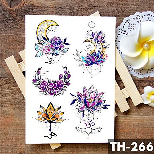 5Pc-Amore Corona Rosa Blu Giglio Fiore Autoadesivo Del Tatuaggio Impermeabile Piccione Angelo Braccio Tatuaggi Body Art Tatuaggi Tatoo-In Da 24-Th-266