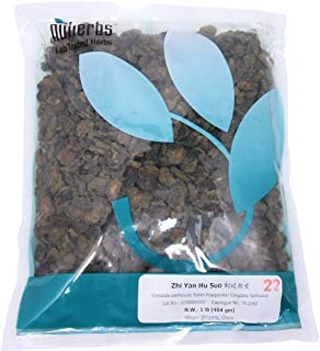Prepared Corydalis Root (Tuber) Slices - (Zhi Yan Hu Suo) - 1 Pound - Lab Tested, Geo-Authentic Bulk Herbs