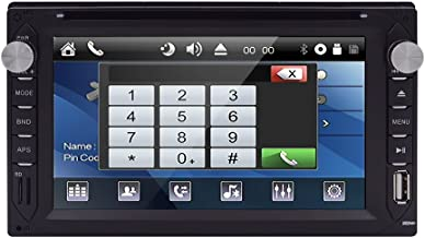 Audio Double-DIN 6.2 inch Touchscreen DVD Player Receiver, Bluetooth, Wireless Remote