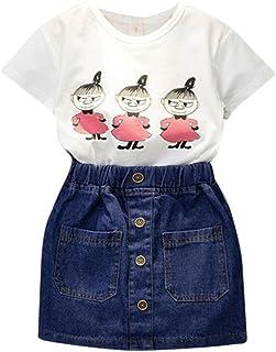5-6A/ños, Blanco Covermason Ni/ña Sin mangas Blusa Camiseta y Floral Pantalones 1 Conjunto