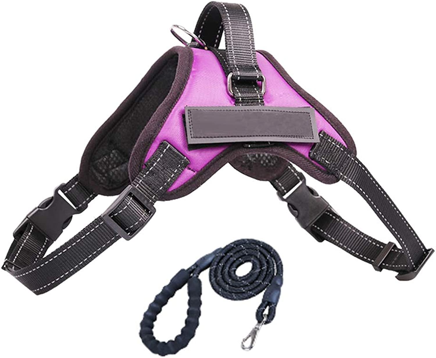Dog Leash, Chest Strap with Traction Rope for Large Dogs Adjustable Belt for Running, Walking, Jogging (color   PurpleM)