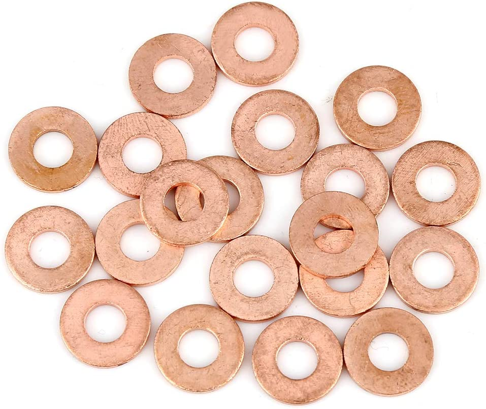 X AUTOHAUX Copper Max 64% OFF Washer Flat Sealing Spacer Limited price sale for Gasket Car Ring