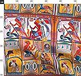 Ägypten, Antik, Hieroglyphen, Hunde, Vögel, Indigen,
